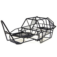 Black 1/10 Scale RC Rock Car Xtra Speed V Steel Roll Cage Frame Body Black Chassis Axial SCX10 RC Crawler Climbing Truck Parts