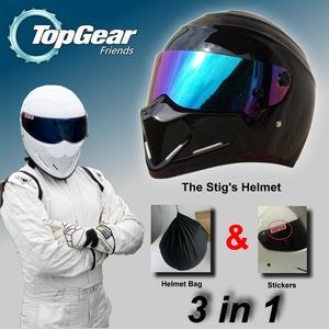 TopGear STIG Helmet Capacete Casco De   Bag + SIMPSON Sticker For  Gifts Bright f92a51c65e0