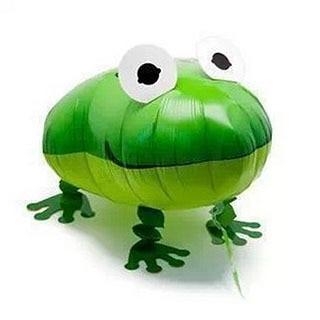 1Pcs Lot Frog Helium font b Pet b font Walking Balloon Baby Shower Animal Foil Balloon