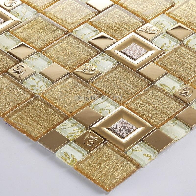 glass mixed stainless steel mosaic tiles hmgm1136a for mesh backing bathroom wall floor kitchen backsplash tile