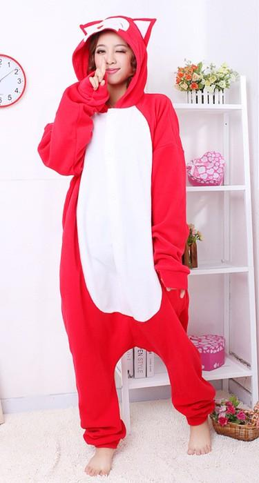Sweet Fox Kigurumi Pajamas Animal Suits Cosplay Halloween Costume Adult Garment Cartoon Jumpsuits Adult Animal Sleepwear