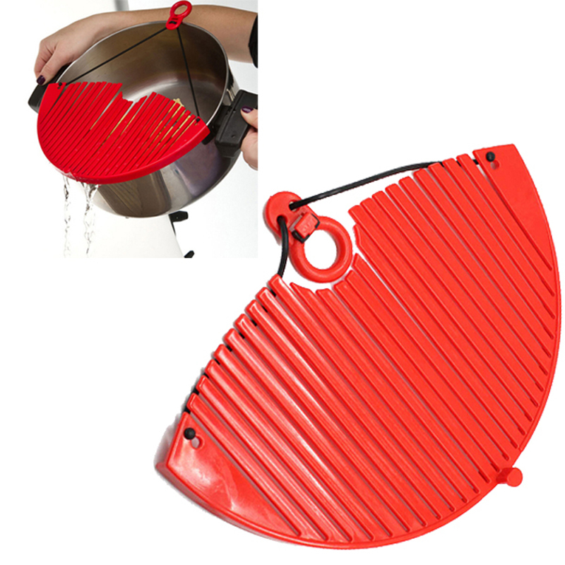 Kitchen Pot Strainer Water Filters Drainer Expandable Sieve Colander Bright Plastic Drain Tools Kitchen accessories