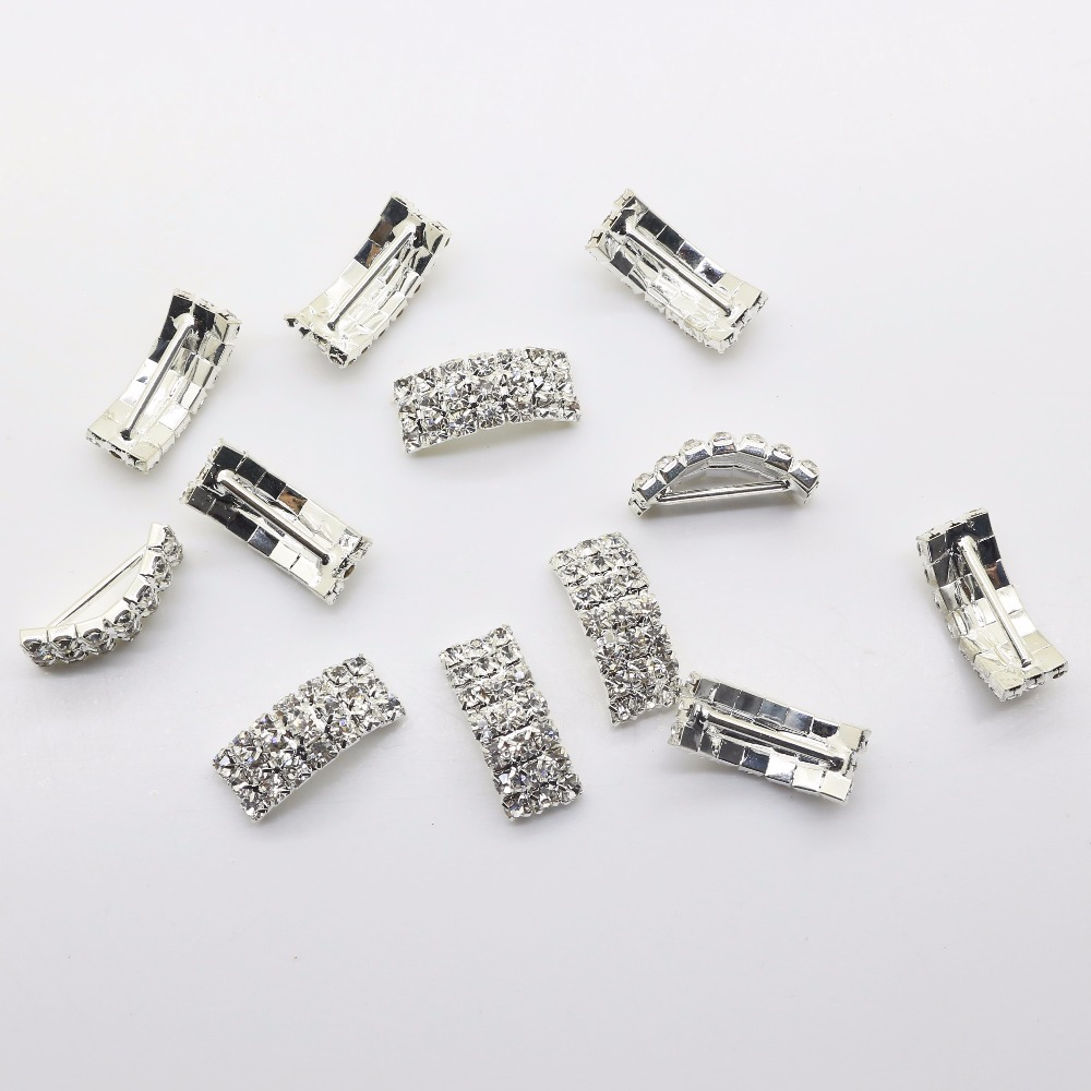New Fashion 10Pcs/lot 9*21mm arch diy Jewelry Accessories rhinestones pedestal embellishments caps Decoration For Making(China)