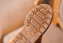 Enfants Neige Bottes Automne Épaississement Coton Chaussures Garçons Filles Étanche Non-slip Martin Cheville Bottes En Cuir