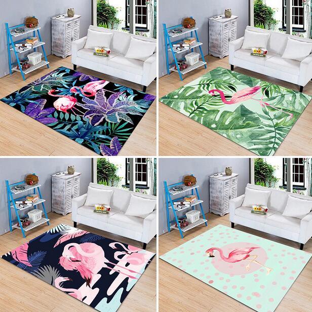 100*160cm Europe Style Flamingo Printing Carpets Anti Slip Water Proof Kitchen Bedroom Rugs Bathroom Hallway Absorbent mat