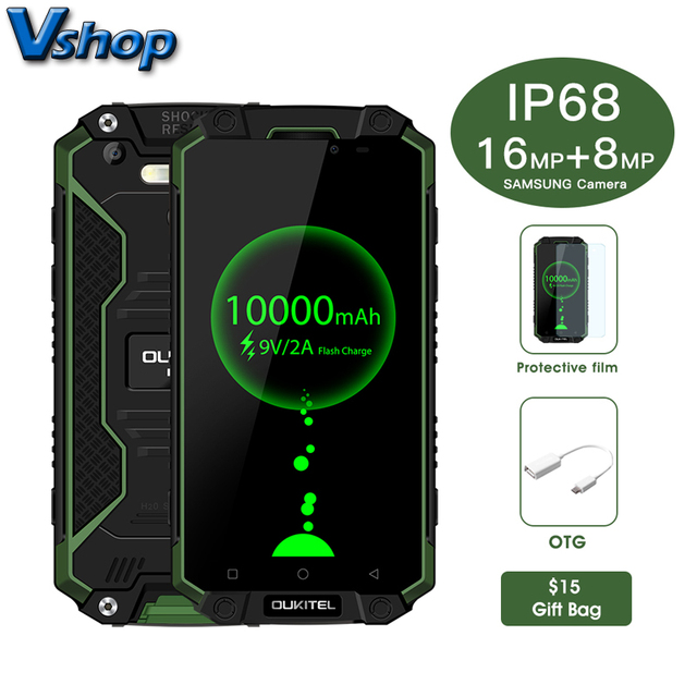 """Оригинальный Oukitel K10000 max 4 г Мобильные телефоны android 7.0 3 ГБ + 32 ГБ Восьмиядерный IP68 Водонепроницаемый смартфон 1080 P FHD 5.5 """"сотовый телефон"""