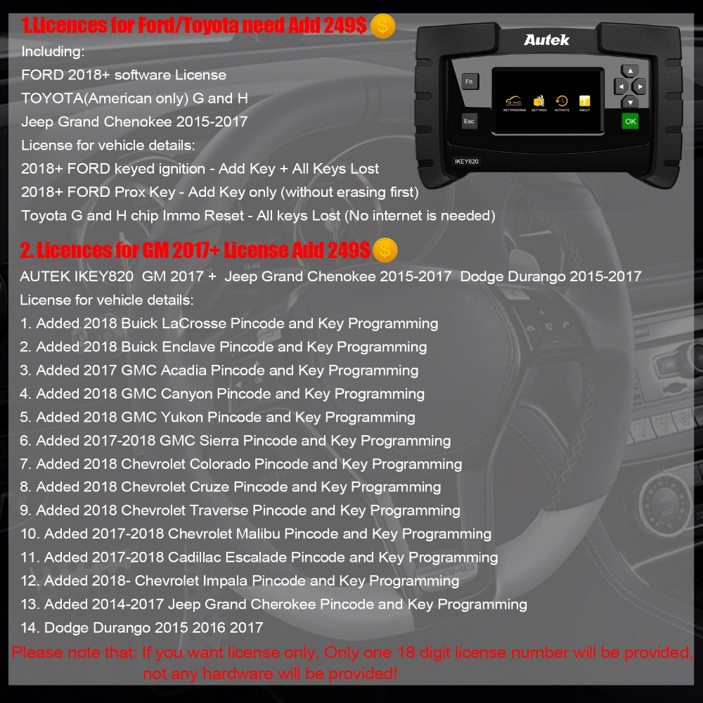 Details about Autek IKey820 OBD2 Car All Key Lost Programming Immobilizer  Scanner PinCode Read