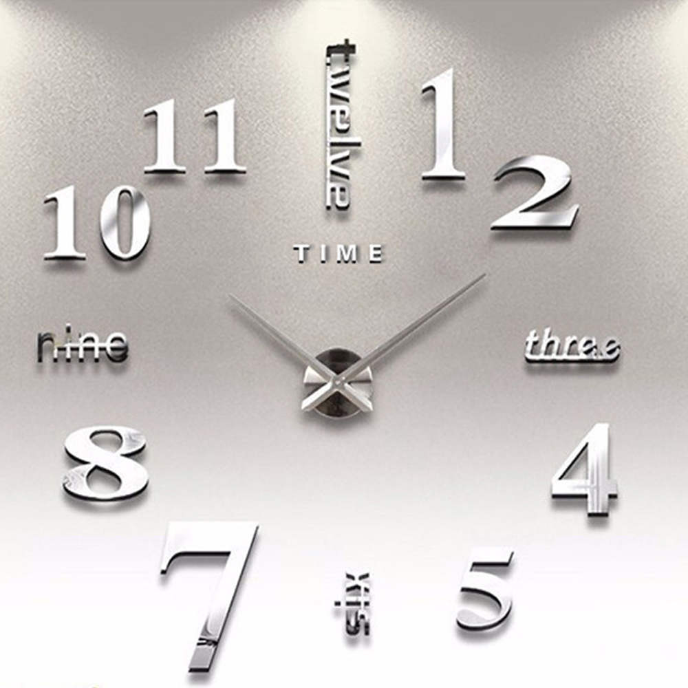 online get cheap simple wall clocks aliexpresscom  alibaba group -  new europe simple ideas huge wall clock modern home decoration diyacrylic mirror wall sticker