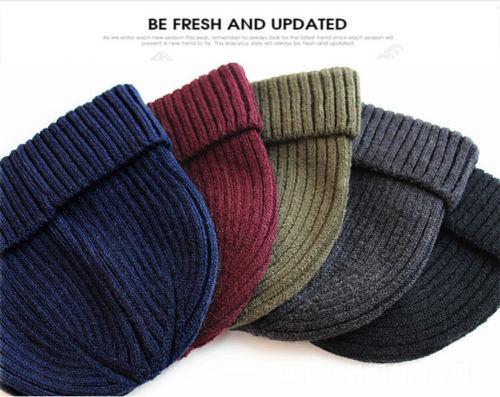 Autumn Winter Warm Cap Women&men Skullies & Beanies Unisex Knitted Ski Crochet Slouchy Hat Female&male Beanie Hat