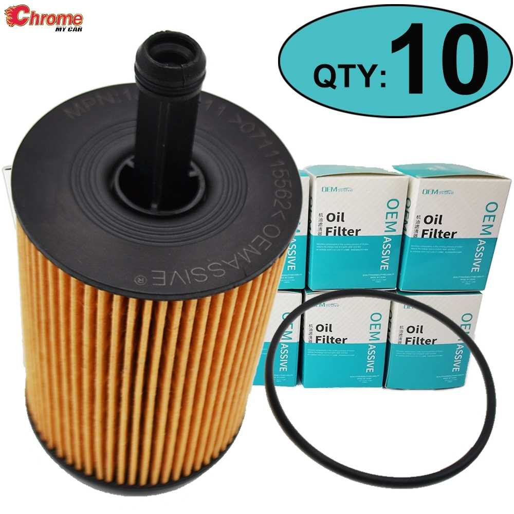 Ten(10) 071115562 Oil Filter For Mitsubishi Lancer Grandis Audi A5 Jeep Compass Skoda Roomster Volkswagen Rabbit Seat Altea