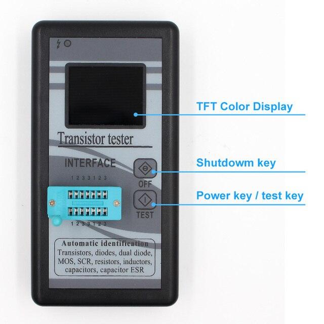 Wielofunkcyjny tester próbnik elektroniczny 128*160 dioda tyrystor pojemnościowy rezystor indukcyjności MOSFET ESR miernik przebiegu TFT kolorowy wyświetlacz