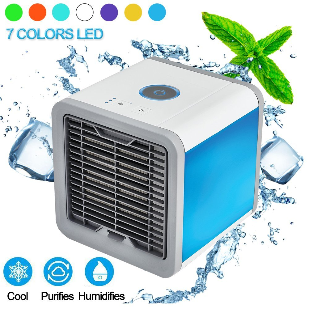 Air Cooler 3-in-1 Personal Space Air Cooler Mini Portable Air Conditioner Fan