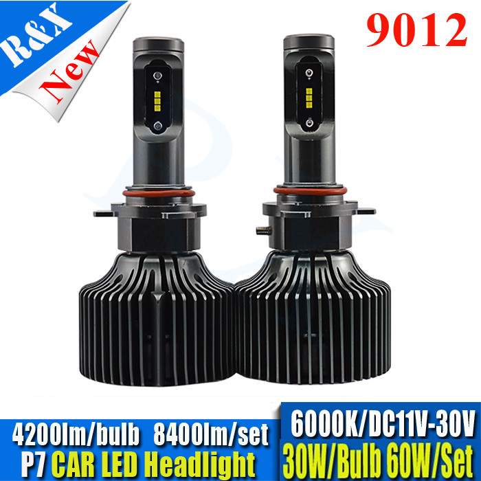 Newest 1set All in one 8400LM 60W P6 CSP Chip 9012 LED Headlight Lamp Auto LED Car Headlight Bulbs canbus LED Headlight Bulb all in one canbus 80w 8000lm cree chip led h4 hi
