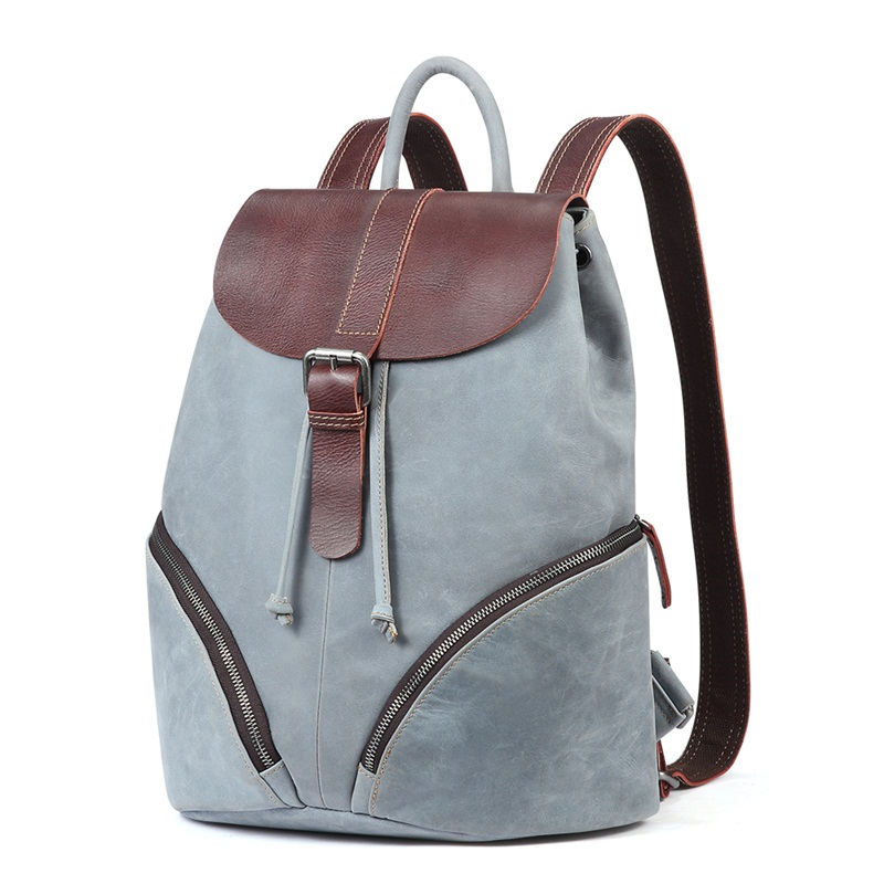 Unique Design Genuine Leather Women Backpack High Quality Casual Travel Backpacks Bag For Girl School bag Woemen Shoulder Bags briggs famous brand women backpack soft genuine leather backpacks school bag high quality leather travel bag for teenage girl