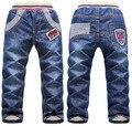 Горячая продажа розничная Новый дизайн моды мальчиков толстые джинсы зимой Дети брюки бесплатная доставка мальчик бархатом жан 3Y-7Y