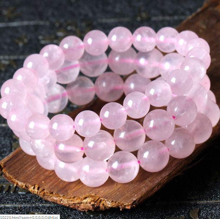 Rose Quartz Bracelet Natural Stone Love Fertility Charm Crystal Beads Stretch Bracelets New In Strand From Jewelry Accessories On Aliexpress