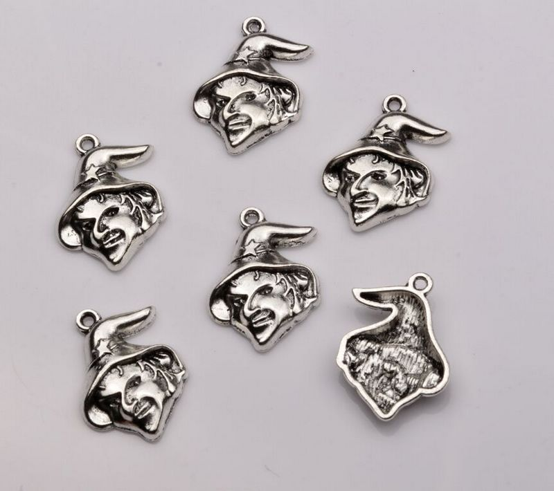 Hot sell 10pcs antique silver single sided design ugly witch 10pcs antique silver single sided design ugly witch charms pendants diy jewelry 165 x 235mm za324 in charms from jewelry accessories on aliexpress aloadofball Image collections