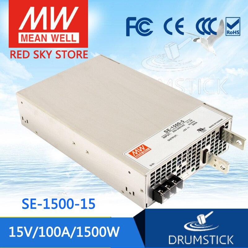 Original MEAN WELL SE-1500-15 15V 100A meanwell SE-1500 15V 1500W Single Output Power Supply 15 15 1500