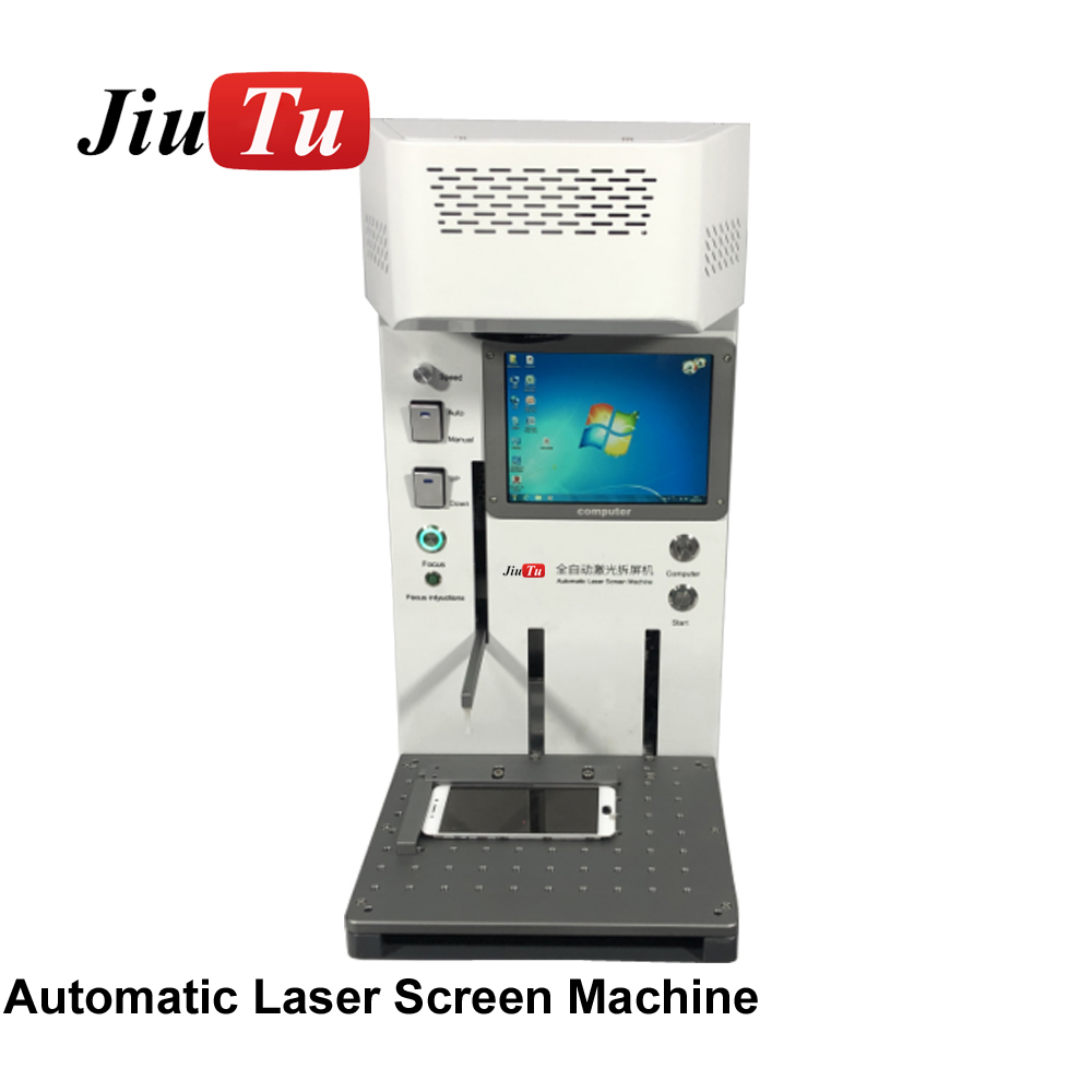 Automatic Fiber Laser Marking Machine Engraver Cutter With Built-in Computer For iPhone 8 8P XS XR XSMax Rear Glass Separation (2)