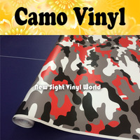 America Camouflage Vinyl Wrap Film Tiger Red Camo Vinyl Wrap Sheet Bubble Free Vehicle Wrap Size:1.50*30m/Roll