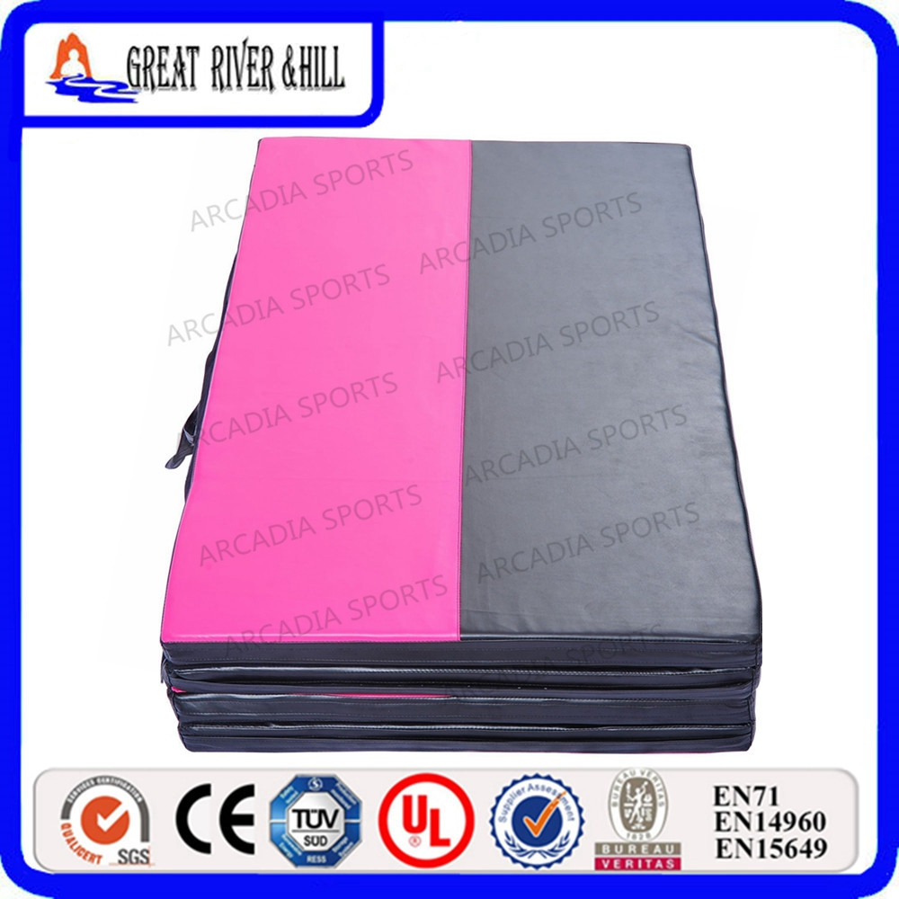 Gymnastic Equipment supplier canvas Crash mats for sale 2.4mx1.2mx5cm economic newly design 2 4mx1 2mx3cm cheap gymnastic mats