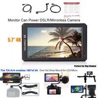Feelworld F6 5,7 4 К HDMI 1080 P видео монитор для Zhiyun Ронин Gimbal DSLR/беззеркальных Камера может мощность Камера