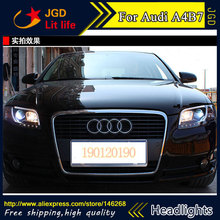 high quality ! HID LED headlights headlamps HID Hernia lamp accessory products case for Audi A4 B7 2005-2008 Car styling(China)