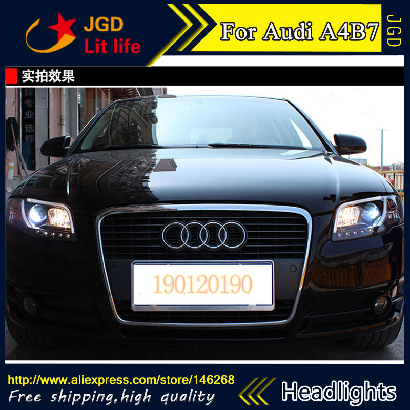 high quality ! HID LED headlights headlamps HID Hernia lamp accessory products case for Audi A4 B7 2005 2008 Car styling