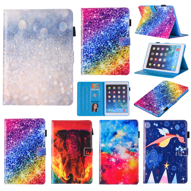 For Apple New iPad 9.7 2017 2018 Case Premium PU Leather Cover Magnetic Smart Slim Cover For Apple 9.7 2017 A1822 A1823 Case nice soft silicone back magnetic smart pu leather case for apple 2017 ipad air 1 cover new slim thin flip tpu protective case