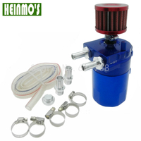 Free Shipping Aluminum Blue Baffled Oil Catch Can Reservoir Tank Oil Catch Tank With Mini Filter