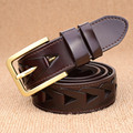 Fashion Cowhide Leather Braided Belts For Women Men's Pin Buckle Belt High Quality Belts Width 3.8CM Black Brown