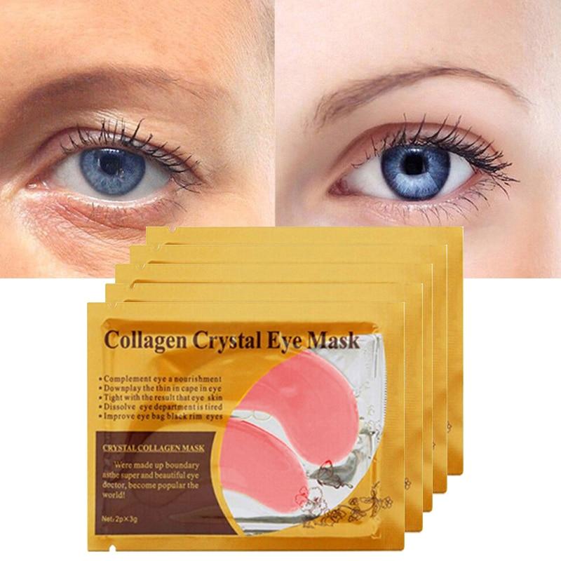 30pcs=15pair Gold Crystal Collagen Eye Mask Eyelid Eye Patches Under Eyes Mask 24K Golden Masks Dark Circles Removal Puffiness 4