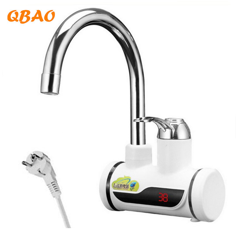 Kitchen Faucet with Heater 220V 3000W Instant Pot Hot Water Electric Boiler Tankless Heating Element with Temperature Display