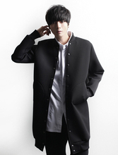 Men's clothing autumn male formal medium-long trench outerwear plus size available