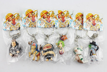 12pcs set One Piece Luffy Chopper Sanji Keychains