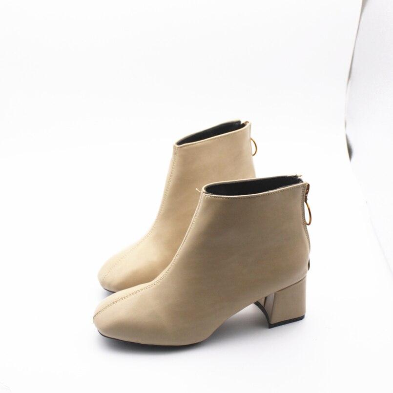 Mode Femelle Cresfimix Cool Talons b Dame A Confortable Dossier c A866 Avec Pu Bottes Chaussures Zipper À Hauts En Cuir Confortables Femmes Automne 55xnPvS