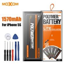 MOXOM мобильного телефона Батарея для iPhone 5S 1560mA высокое Ёмкость телефон Батарея литий-ионный Батарея телефон Батарея Замена