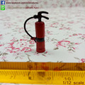 One-inch Scale  Dollhouse  Miniature  Red Fire Extinguisher with Rubber Hose Doll Accessories