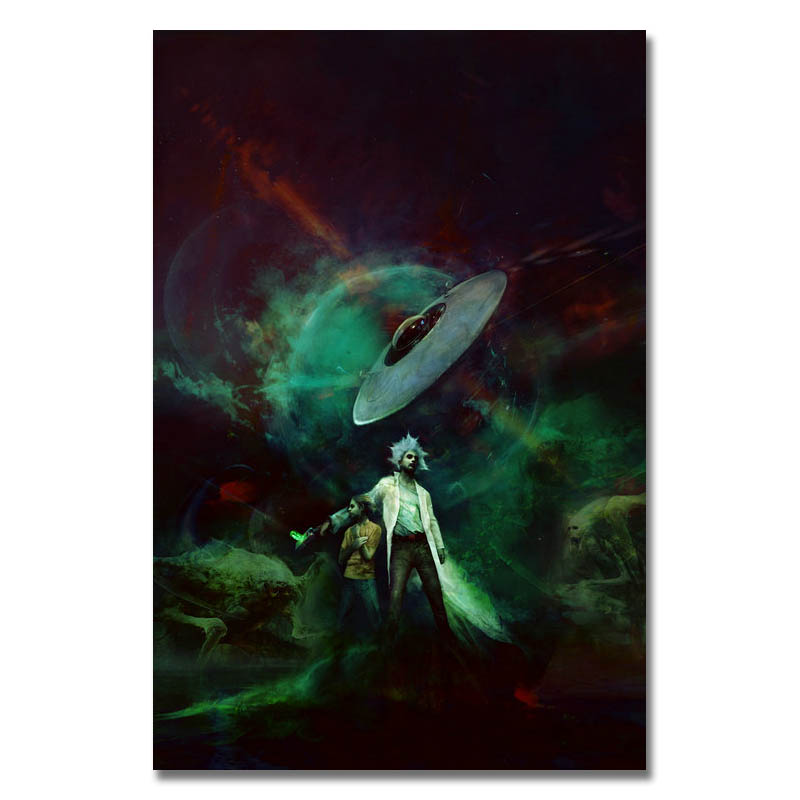 Rick and Morty poster wall decoration photo print 24x24 inches