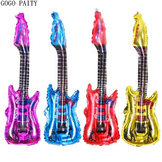 GOGO PAITY 1pcs Free shipping new guitar foil balloon toys for children birthday party decoration balloon wholesale