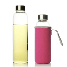 UPORS Glass Water Bottle 280ml 360ml 550ml Sport Bottle with Stainless Steel Lid and Protective Bag BPA Free Travel Drink Bottle cheap CN(Origin) Adults Water Bottles Stocked Eco-Friendly WB1003 Direct Drinking TOUR Equipped None In-Stock Items With Lid Applicable