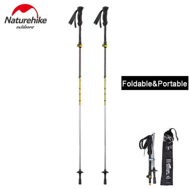 f55c6051618 NatureHike Adjustable Outdoor Hiking Canes Walking Stick Aluminum Nordic  Sticks Telescopic Camping Mountaineering Trekking Poles