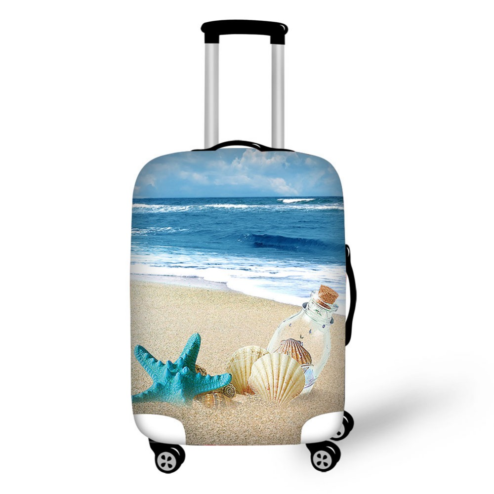Tourist resort beach Series Luggage Cover High Elastic Apply to 18-30 inch Trolley Case Travel Suitcase Covers Bags
