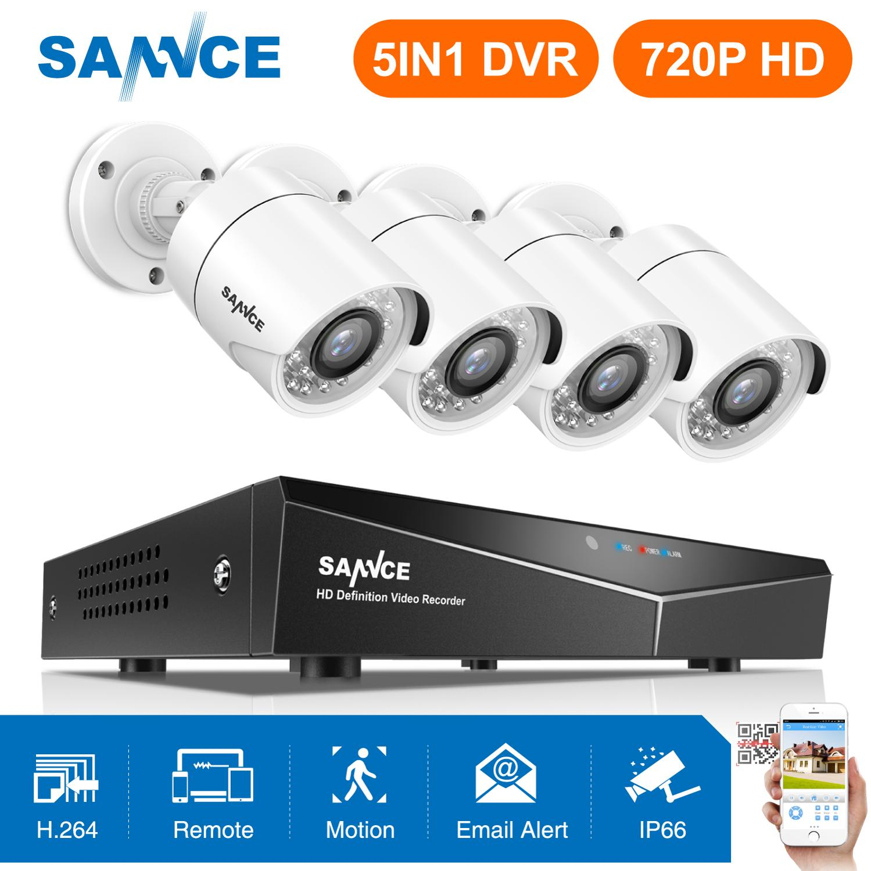 SANNCE 8CH 720P HD CCTV System 1080P HDMI Video Recorder DVR Kit 720P 1500TVL CCTV Security
