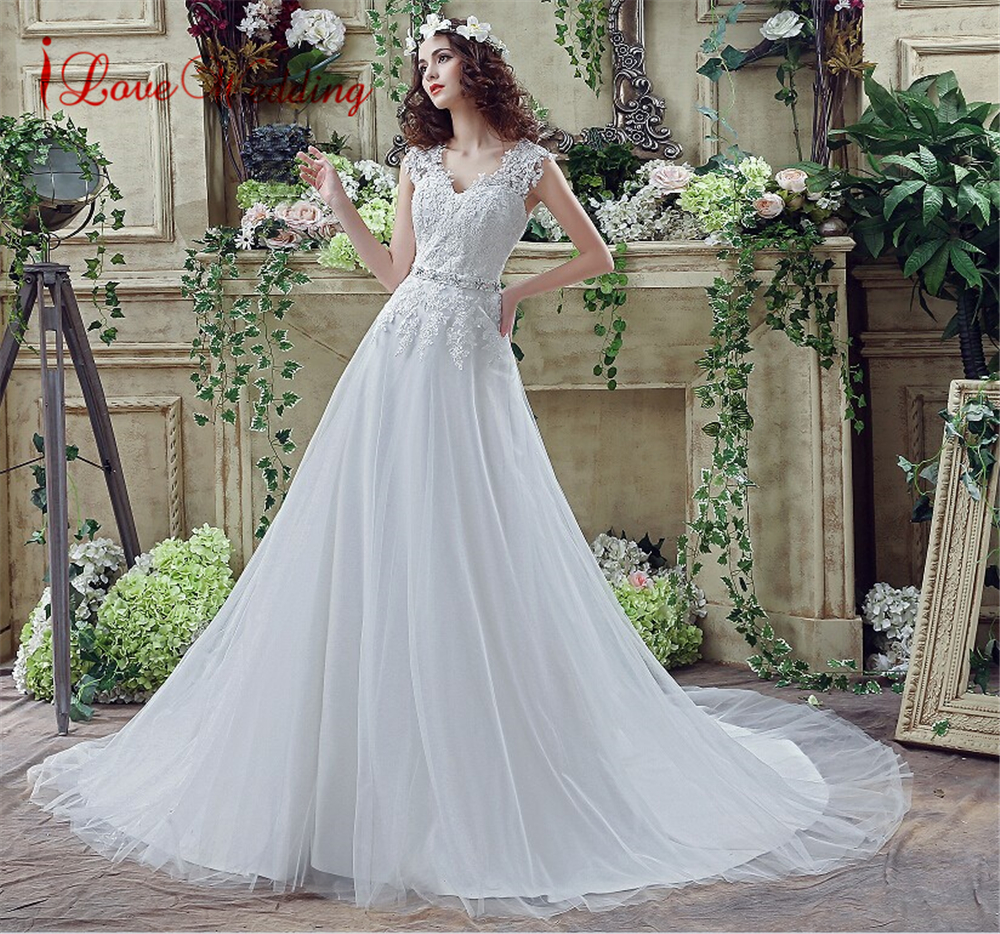 iLoveWedding Amazing Floral Lace Wedding Dresses for Women In Stock ...