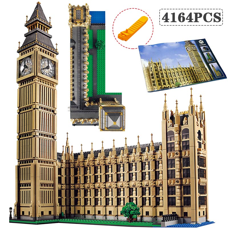 Technic Architecture City Street View Building Blocks LegoINGLY Big Ben 10253 Creator Toys For Children DIY Bricks все цены