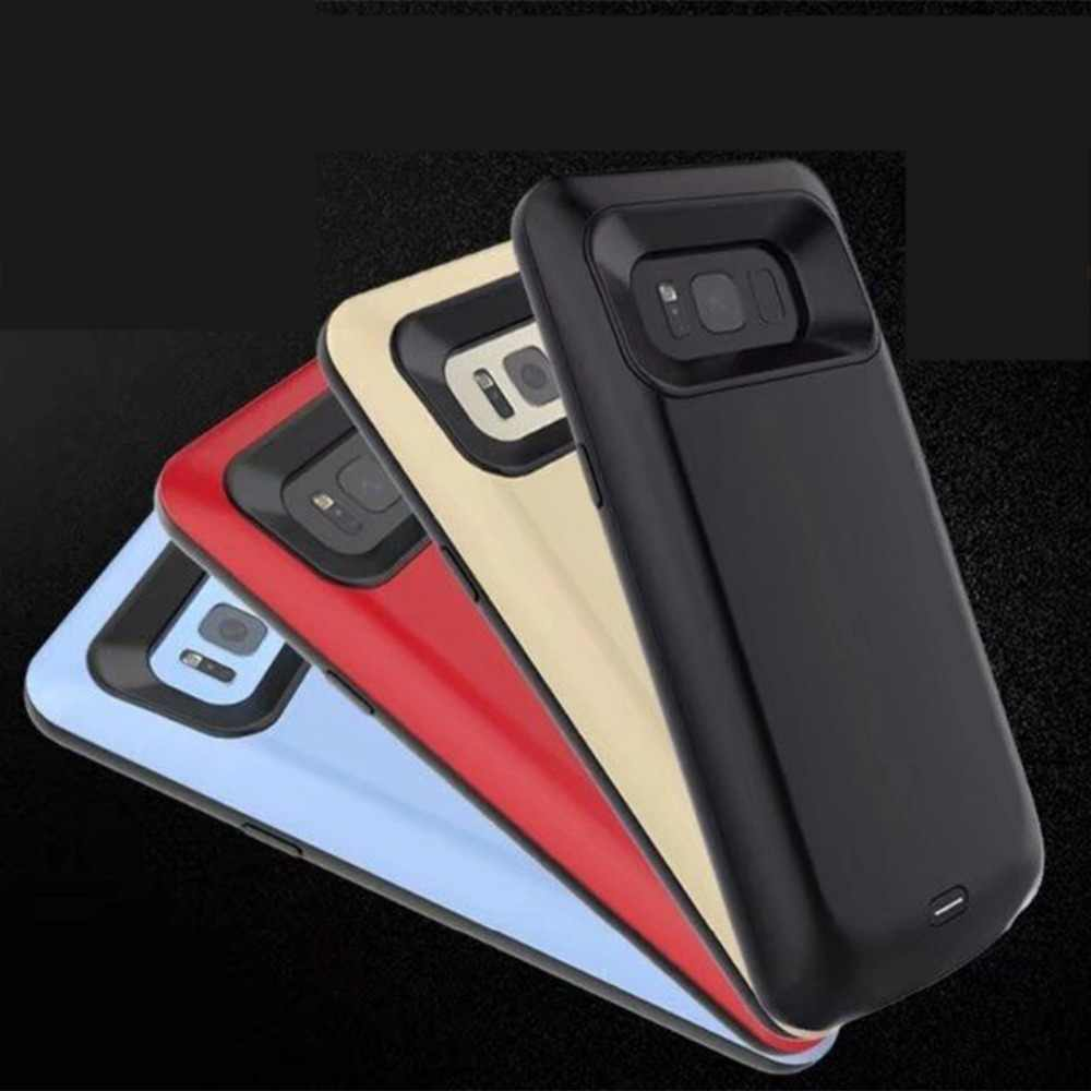 Battery charger poverbank case For samsung galaxy s8 case battery powerbank power bank 5500mah Battery Charger Cases