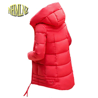 2018 Winter Jacket New Fashion Women Down jacket Slim Large size Hooded Jacket Students Women Thick Warm Cotton Outwear G2848
