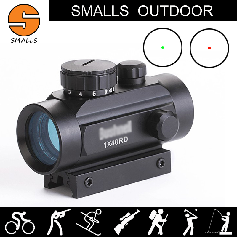 Ar 15 Tactical hunting Airsoft 1X40 Red DOT Reflex Sight Red Green DOT Scope Mount 20mm Picatinny Rail for Rifle Scope image