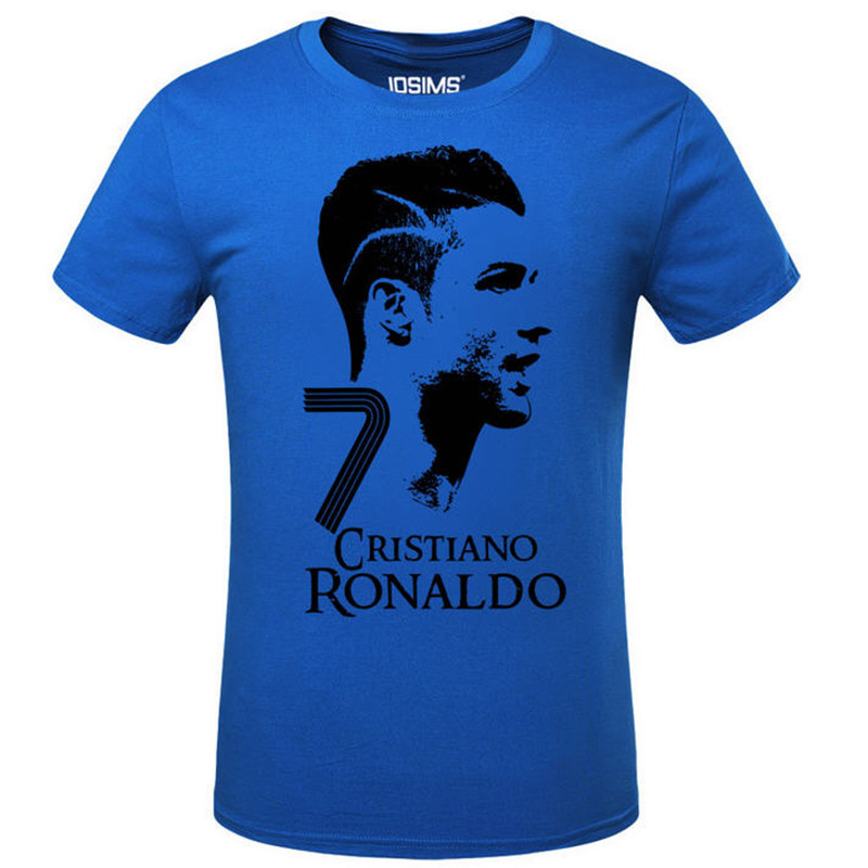 2016 Summer World Cup Cristiano Ronaldo Men's T-Shirt 2017 Camiseta Barcelonae Barcelona Casual Cotton T Shirt  A948